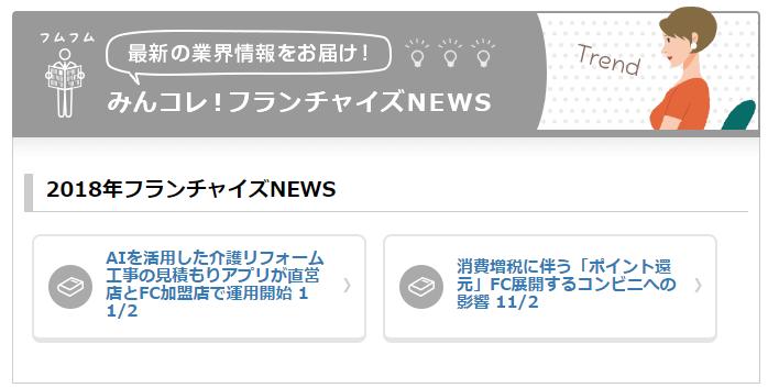新コンテンツ『みんコレ!フランチャイズNEWS』をリリースのロゴ